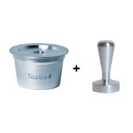 Cápsula Reutilizável Tostio Alumínio compatível com Três Corações + Tamper