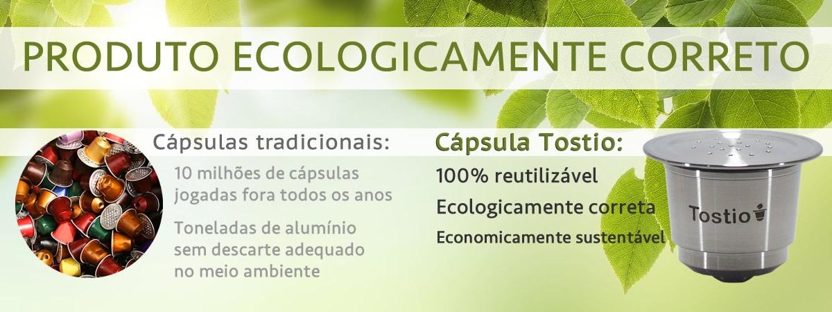 Cápsula reutilizável Tostio - Ecologicamente correta