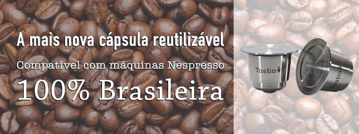 Lançamento Cápsula reutilizável Tostio compatível com Nespresso
