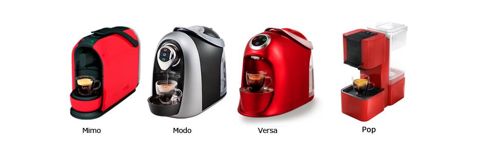 Máquinas compatíveis: Mimo, Modo, Versa, Serv e Gesto